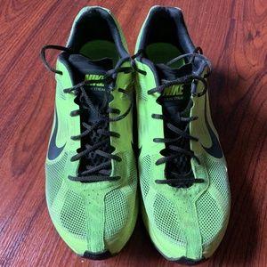 NIKE running shoes neon mens 11